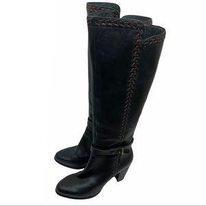 UGG Australia Claudine Black Knee High Heeled Boot